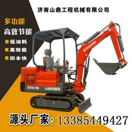 济南山鼎小挖机楼房内施工用的小型挖机价格