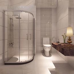 专属订做 浴室钢化玻璃扇形