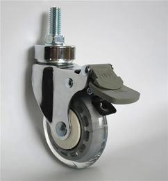 3寸医疗镀铬丝杆刹车脚轮-中山业亿脚轮厂家缩略图