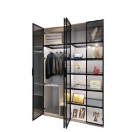 亚博国际版全铝博古架铝材 铝合金橱柜家具成品定制