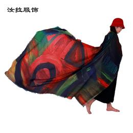 外贸围巾厂_专做外贸围巾加工厂家-汝拉服饰 定制神圣几何围巾