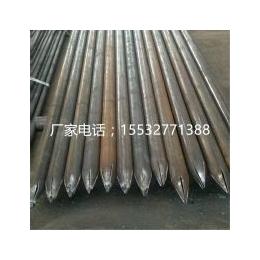 钢花管是钢管打孔出尖车丝制作河北渠成钢管