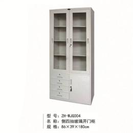ZH-WJG004侧四抽玻璃开门柜