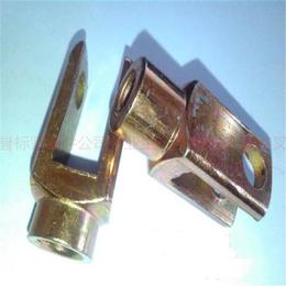 石标牌镀彩锌冷镦成型连接叉头生产厂家