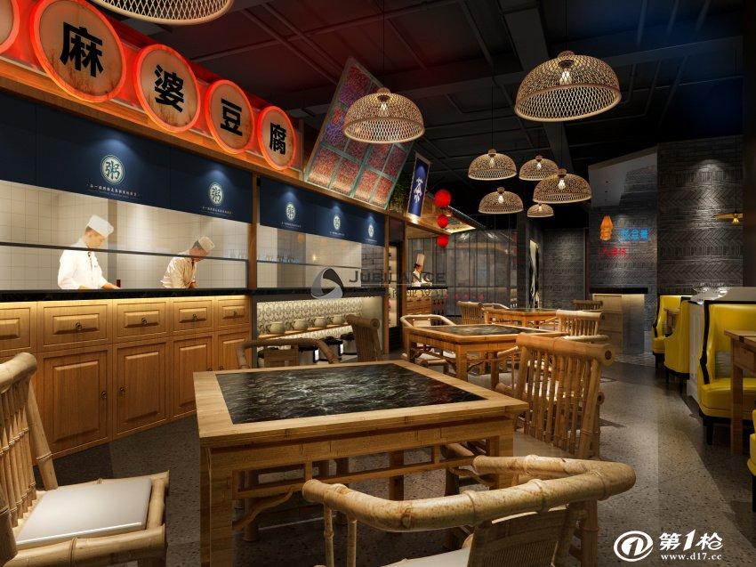 餐饮店铺装修设计 宋记粥铺装修设计 成都众派思餐饮设计
