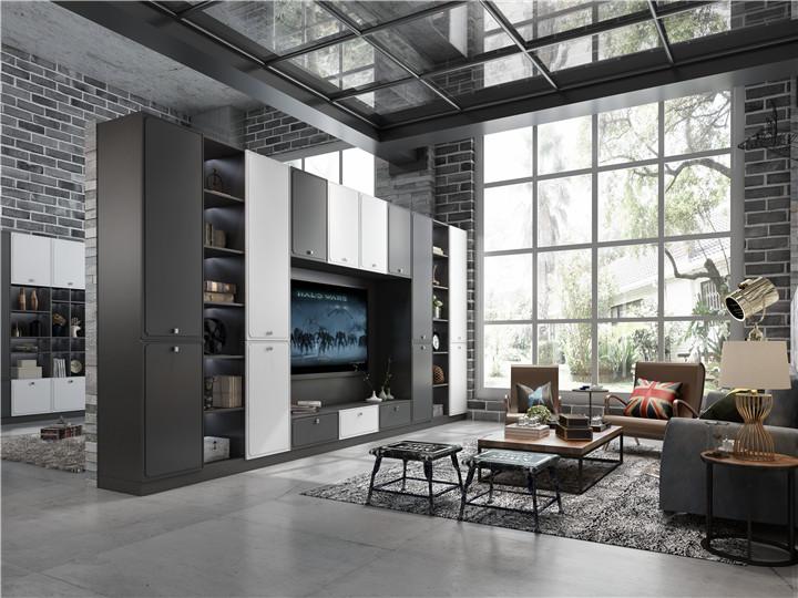 江西家具供应黑白沉稳式电视柜