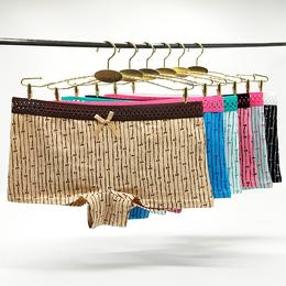 南美外貿女士內褲現貨棉時尚條紋印花平角褲 廠家直銷女短褲批發