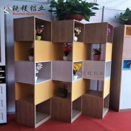 锐镁直销全铝木纹铝型材柜子 铝合金型材橱柜 全铝家具成品定制