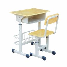 可升降兜课桌椅厂家直销  辅导补习单人桌椅 缩略图