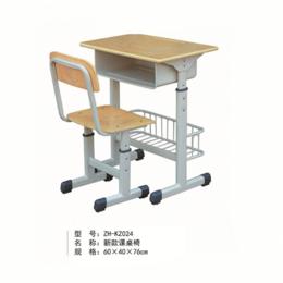 学校单人学生课桌椅 ZH-KZ024