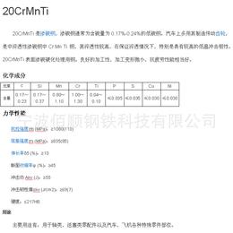 20CrMnTi合金钢材料价格