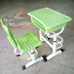 江西工厂直销ABS注塑塑料课桌椅学生桌椅可升降单人培训桌椅