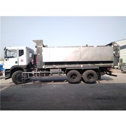 转运20吨含水污泥车-全密闭20吨污泥自卸车价格