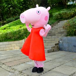 人行走卡通人偶服装赣州科尼卡通行走人偶服装小猪佩奇K004