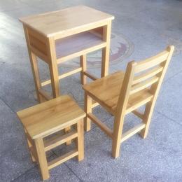 江西廠家優質實木雙人課桌椅學生實木課桌椅