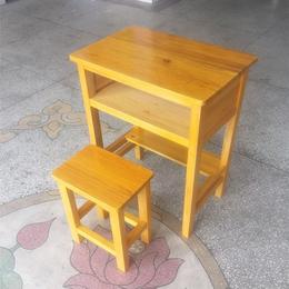 2018新款学生单人实木课桌椅供应
