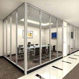 办公室玻璃隔断  装修图