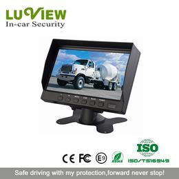 7寸车载显示器 7寸台式显示器  货车大巴公交车两路显示器