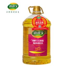道道全压榨花生原香食用调和油5L