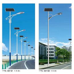 孟村农村太阳能路灯-玖能新能源-6米农村太阳能路灯灯头