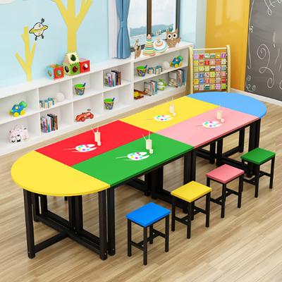 中小学生多人固定拼接课桌凳