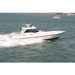 灵山兄弟钓鱼艇12米半玻璃钢海钓船W40IB游钓艇商务艇