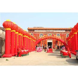 中山港口开业庆典策划 舞醒狮队 舞台音响 花篮拱门