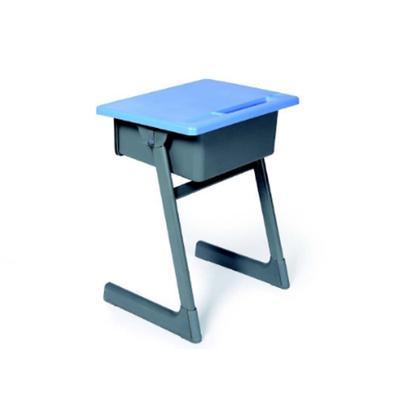 中小学单人C型单层固定课桌