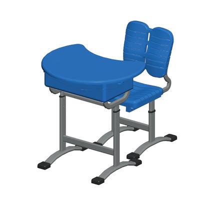 单柱单层提拉式升降塑料课桌椅