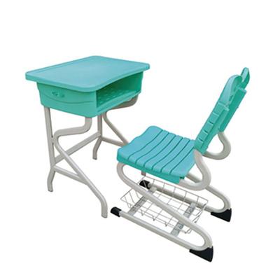 单柱单层S型塑料课桌椅