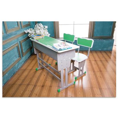 中小学双人双柱外升降多层板课桌椅