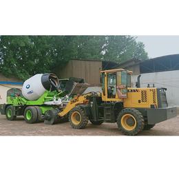 云南保山 水泥混凝土搅拌设备 不用动车可以卸车的搅拌机cy