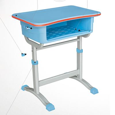中小学单柱旋钮升降塑料课桌