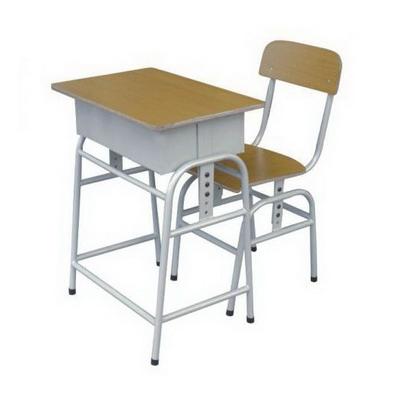 大学生单人广式弯管课桌椅