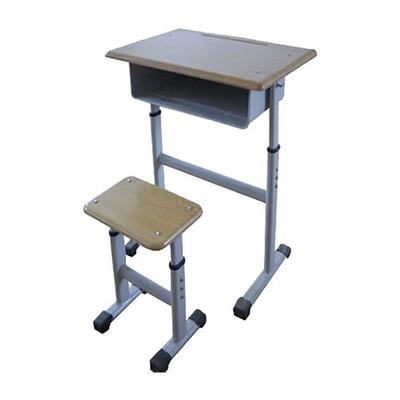 中小学单人单柱单层外升降课桌凳