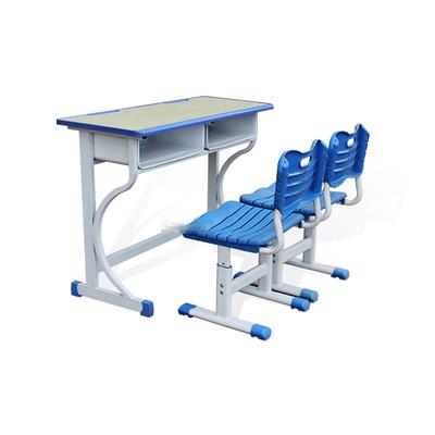 大学生双人K型单层固定课桌椅