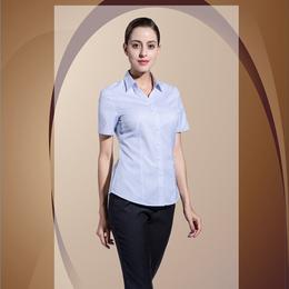 商务西服V领 蓝色条纹竖衬衫缩略图