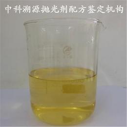 金属抛光剂配方鉴定及成分化验
