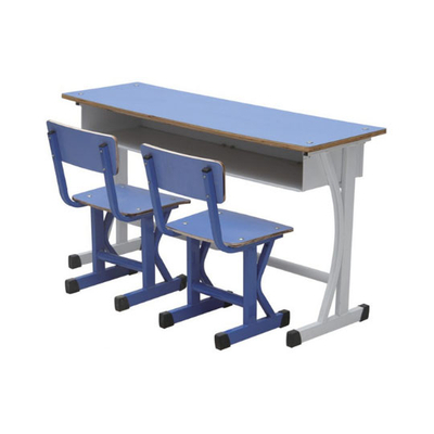 中小学单人K型单层固定课桌椅