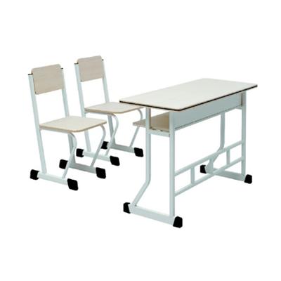中小学双人四脚单层固定课桌椅