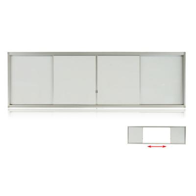 铝合金左右推拉单面搪瓷白色黑板