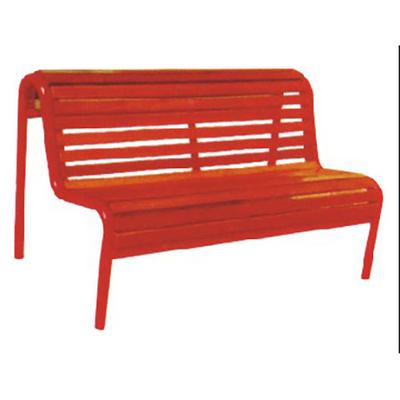 两人钢管木条公园椅
