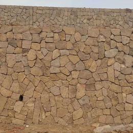 工程护坡浆砌片石 铺地片石 天然锈黄色石板 河北板岩厂家批发