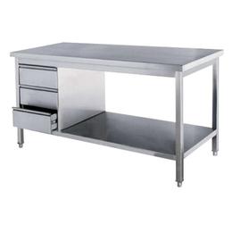 南昌厂家热销不生锈双层厨房工作操作台缩略图