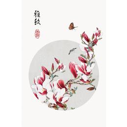 江西向日葵公司热卖新中式水墨花装饰瓷板画