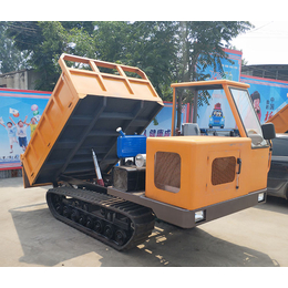 农改水渠混凝土履带运输车  能在水田里行走的车-履带运输车