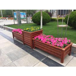 兰州景观花箱木质花坛种植花箱移动花坛