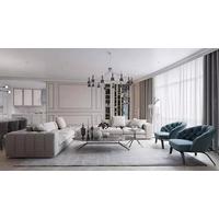 这个现代风格太美了,护墙板漂亮极了!