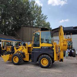山东装载机安装挖机一边铲一边挖 两用装载机多功能两头忙