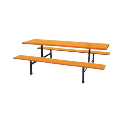 10位玻璃钢固定条凳餐桌